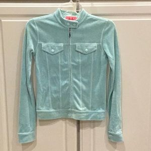 Juicy Couture Rare Pale Blue Terrycloth Jacket
